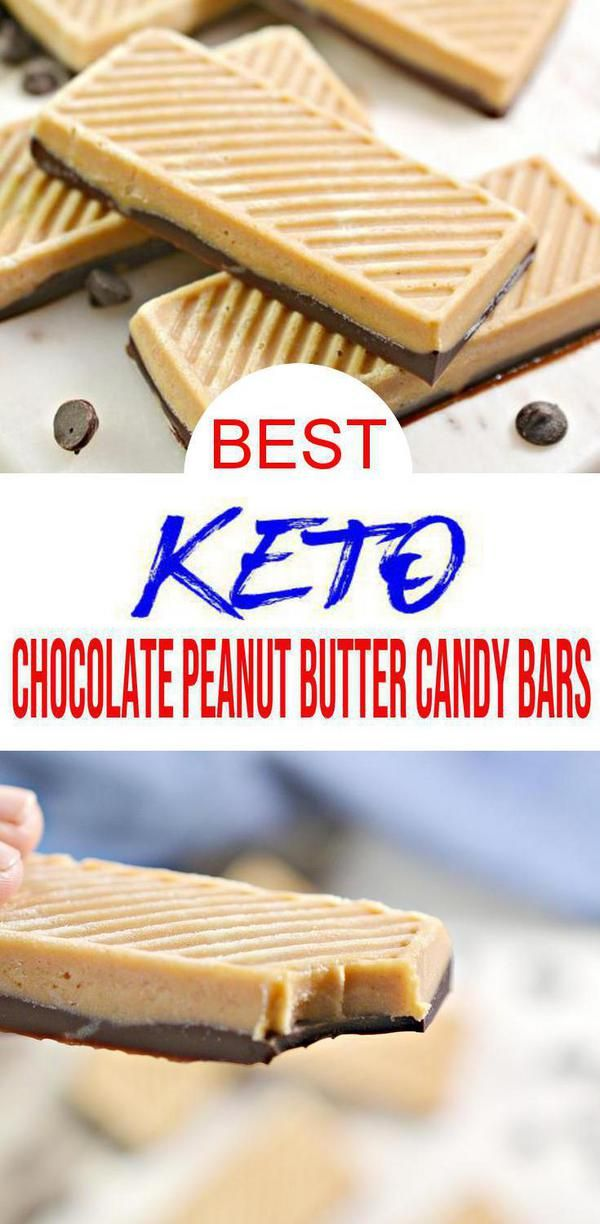 BEST Keto Candy! Low Carb Keto Chocolate Peanut Butter Candy Bars Idea – Quick & Easy Ketogenic Diet Recipe – Completely Keto Friendly – Gluten Free – Sugar Free