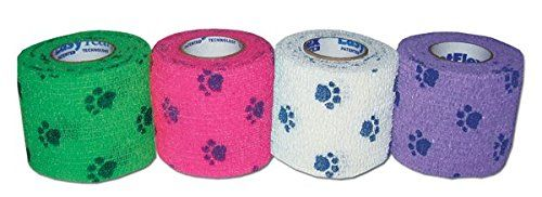 From 14.60 Petflex Paw Pack Bandage 7.5cm X 4.5m. Pack X 4. Pet Dog Cat Cohesive Bandage