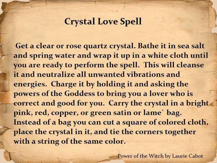 Crystal love spell