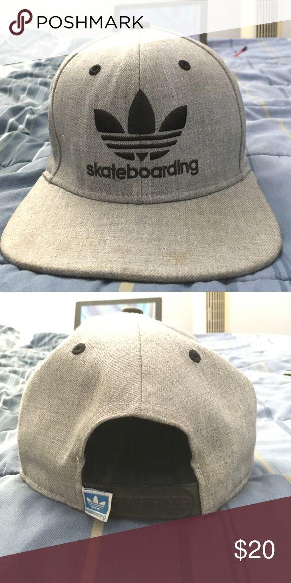 Adidas Skateboarding Hat Adidas Grey SnapBack Skateboarding hat Adidas Accessories Hats