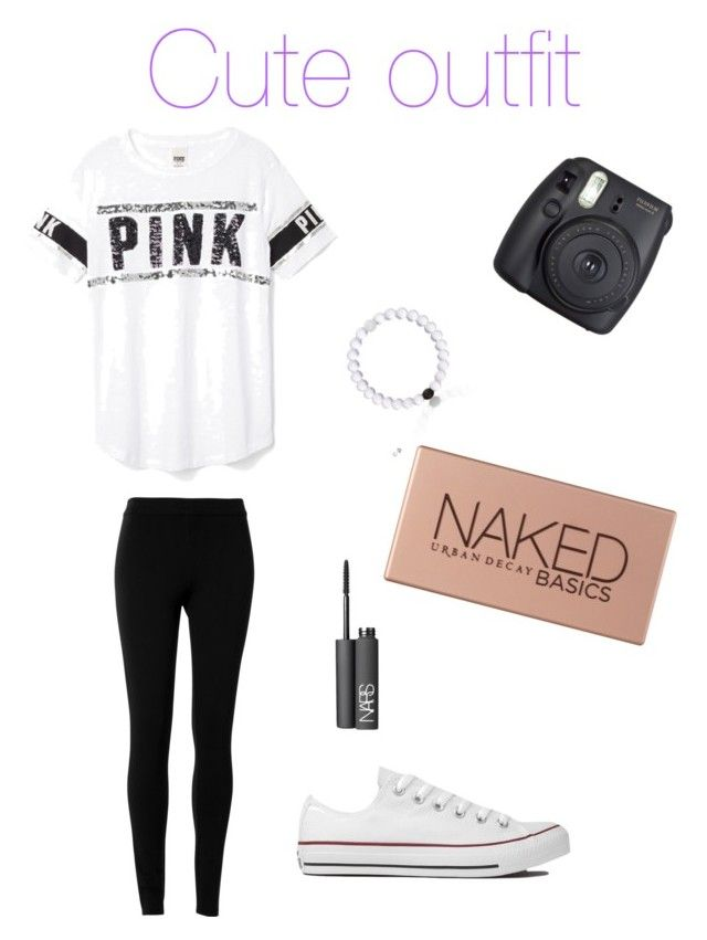 """""""Cute outfit"""" by soccer-tumblr ❤ liked on Polyvore featuring Max Studio, Victoria's Secret PINK, Converse, Fuji, Urban Decay and NARS Cosmetics"""
