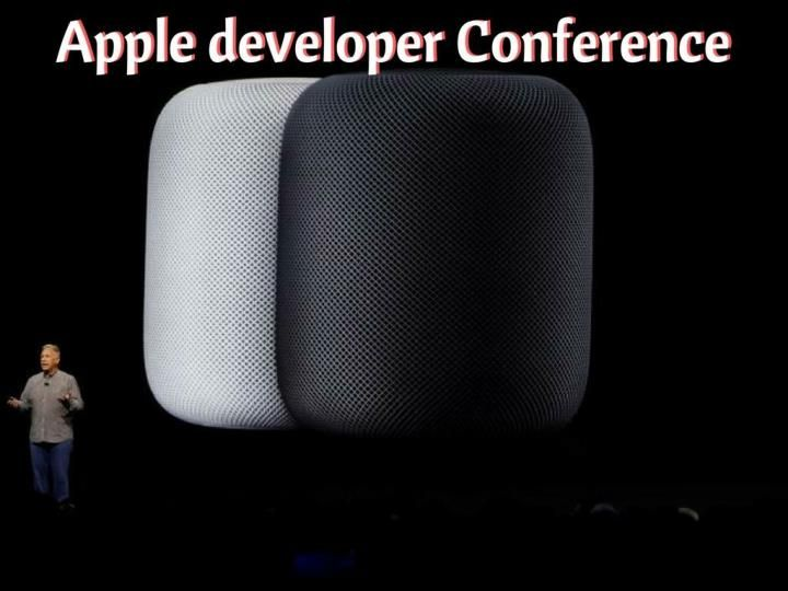 Apple debuts the HomePod speaker and shows off a new Siri at the Worldwide Developer Conference in San Jose.