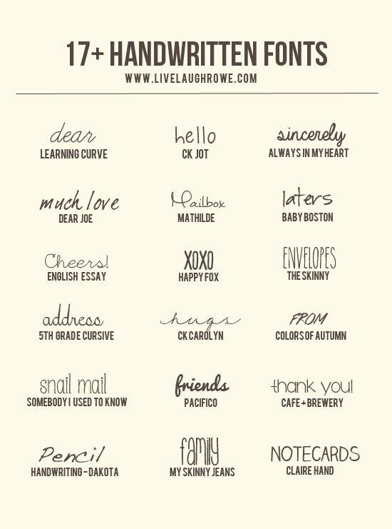 17+ Free Handwritten Fonts