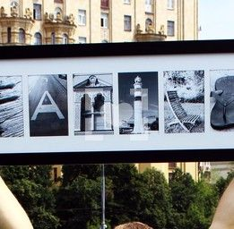 Picture word FAMILY / картина FAMILY из фото букв