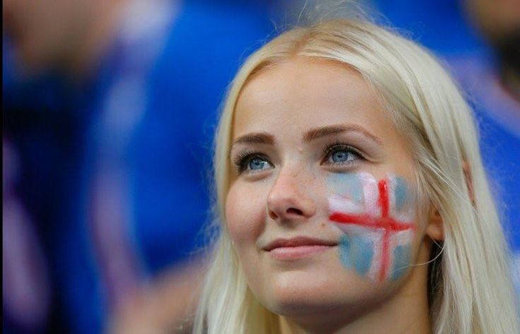 Cute iceland soccer fan