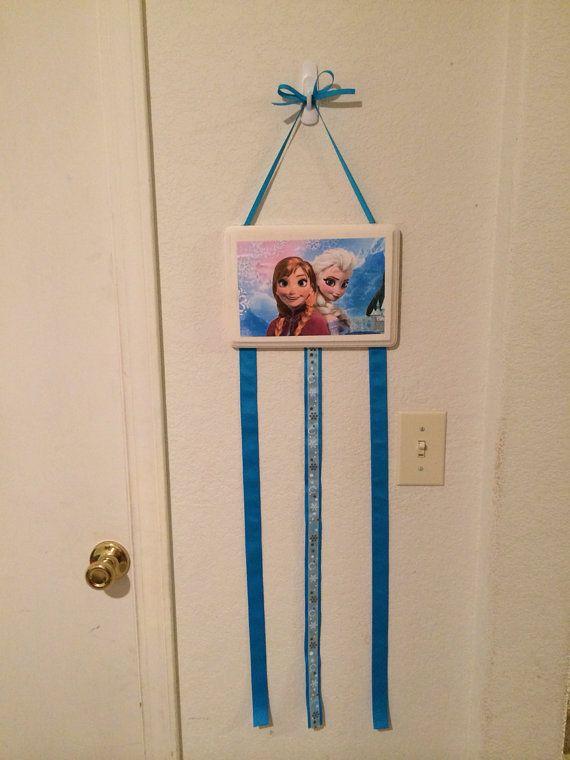 Disney's Frozen hair bow and headband holder on Etsy, $20.00