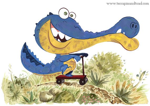 The joyride. Childrens Room Art, Fine Art Print by #TerrapinAndToad