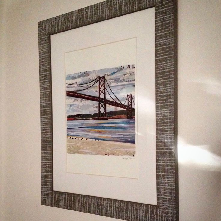 "Foto of a framed artprint sent to us by a lovely customer   / ""PONTE 25 DE ABRIL"" /  Artprint (30 x 40cm) /  by ©philippe patricio - all rights reserved"