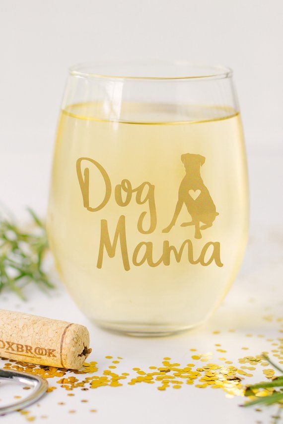 Poodle dog gift wine glasses
