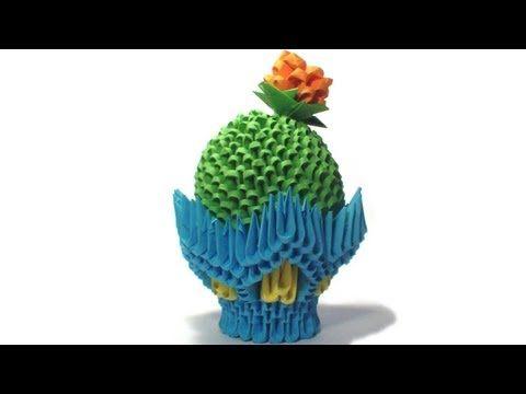Cactus (Cây Xương rồng) - 3D Origami Paradise