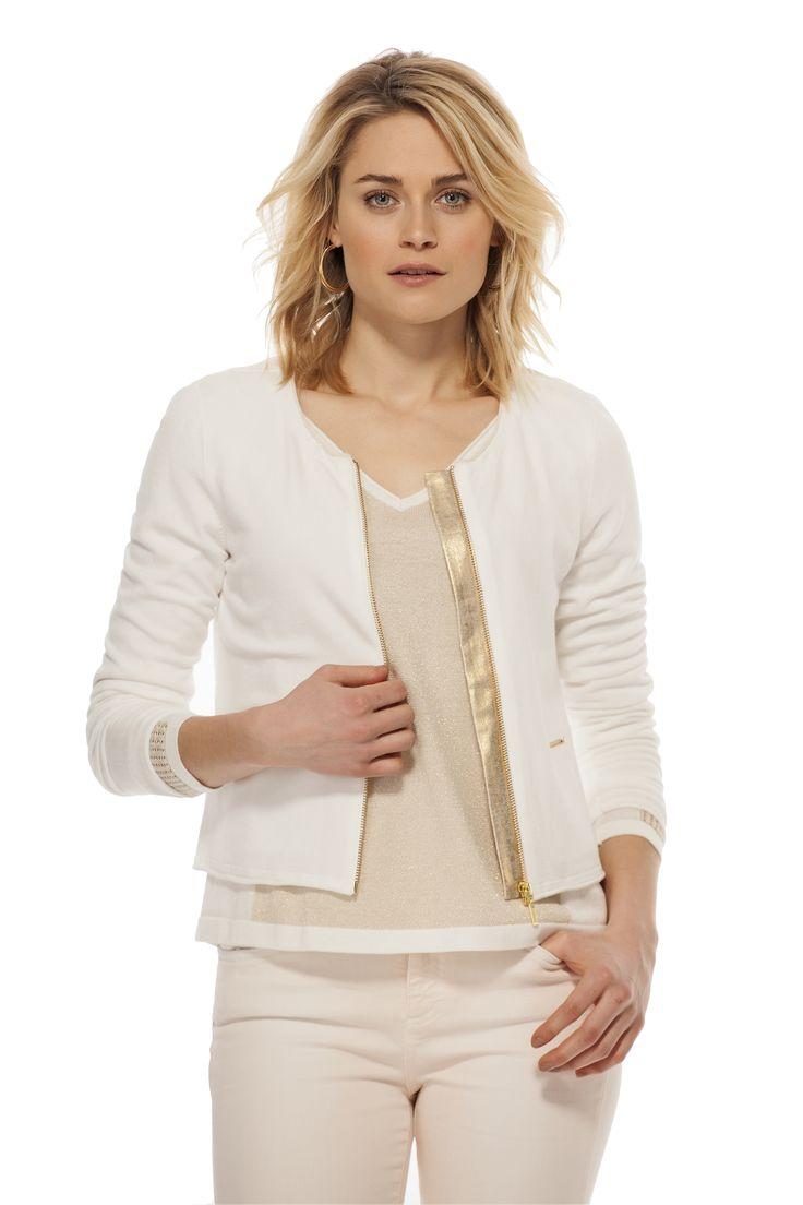 Cardigan avec fermeture éclaire / Front zip cardigan https://www.tristanstyle.com/en/femmes/pulls-cardigans/cardigan-avec-fermeture-eclair/11/fv040f0414z/