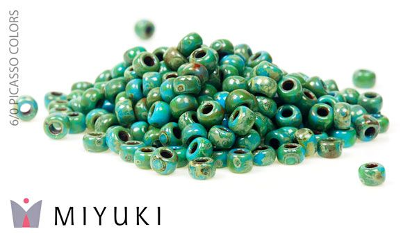 MIYUKI PICASSO –siemenhelmet Miyukin uudet todella upeat 6/0 & 8/0 siemenhelmet PICASSO-väreissä ovat nyt myynnissä! Nämä väriläiskät tuovat koruun aivan uutta särmää ja ainutlaatuisuutta.  http://www.helmikauppa.com/siemenhelmet-miyuki-siemenhelmet-picasso-c-98_801.html