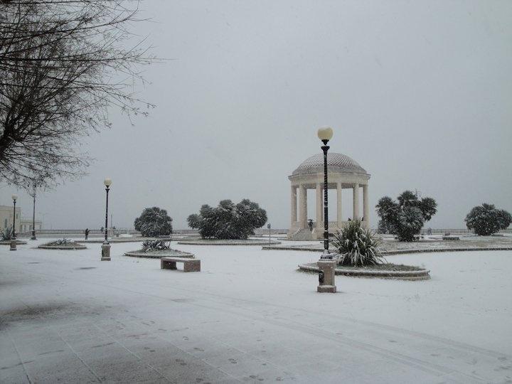 Livorno sotto la neve