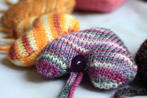 striped hearts knitted hearts crochet hearts heart projects knit heart ...