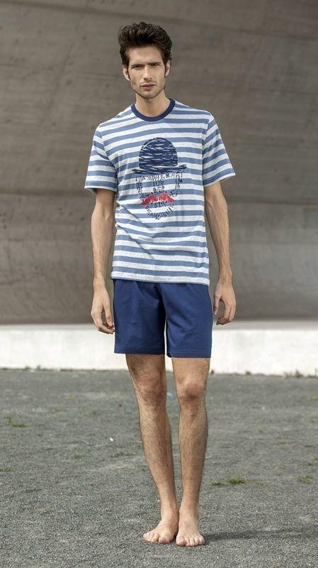 Pijama hombre gentleman soy. Envio 24/48 h. Pijama de manga y pantalón corto en algodón 100%. Precio: 39,95€, Ultimas tallas disponibles. http://www.varelaintimo.com/marca/23/soy