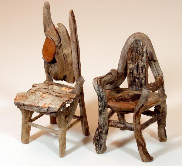 elf furniture. twig furniture miniature rustic by george c clark is being shown now elf