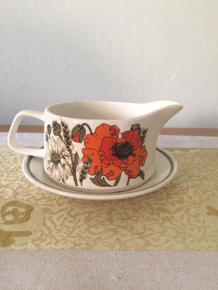A personal favourite from my Etsy shop https://www.etsy.com/uk/listing/280528846/retro-jg-meakin-studio-poppy-gravy-boat