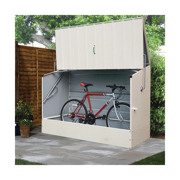 25 beste idee n over bike locker op pinterest for Motorcycle storage shed