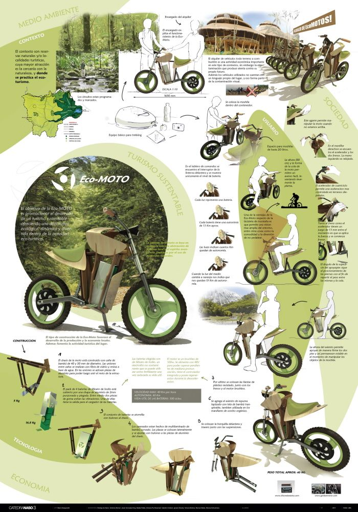 Moto electrica sustentable/Sustainable E-Bike by Tomas Aguila at Coroflot.com