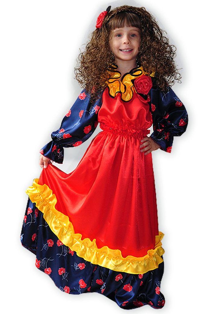 Детский атласный костюм Цыганки — http://fas.st/IM8Fj4