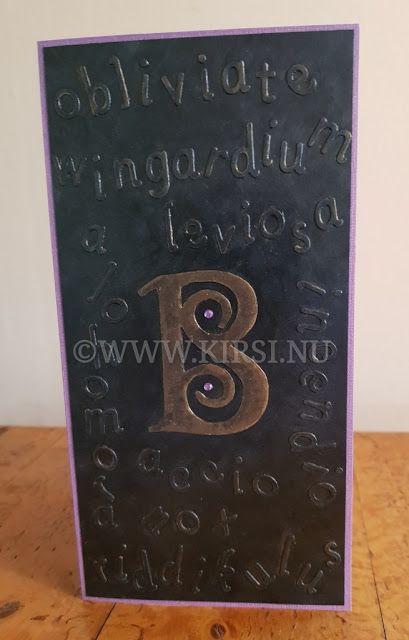 Kirsi: Potterkortet till B - The Potter card for B.  Jag ...