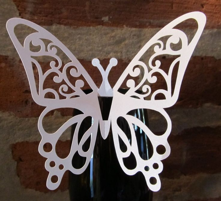 Mariposas Caladas Papel Perlado Para Decorar Copas Y Tragos - $ 70,00 en MercadoLibre