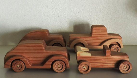 Four wooden toy cars Toys for boys Toys for girls Child by DeVicci