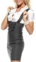 CAREER WOMAN HIGH WAIST SEXY SUSPENDERS PENCIL SKIRT