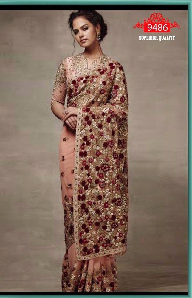 Indian Sari Bollywood Star Replica Designer Saree Blouse Wedding Georgette Saris   eBay