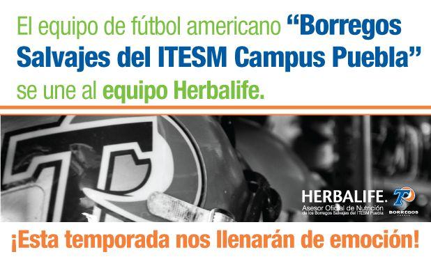Herbalife - México - Official Site Nos enorgullece informar que ahora somos Asesores Ociales de Nutrición de los Borregos Salvajes de lnstituto Tecnológico de Estudios Superiores de Monterrey. A pesar de su corta historia,  estos jóvenes universitarios compiten en la máxima categoría de fútbol americano de México:  La Liga Premier de la Comisión Nacional Deportiva Estudiantil de Instituciones Privadas  (CONADEIP) y luchan todos los días por ser los mejores.
