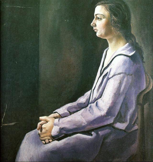 portrait of ana maria cadaqu s circa 1925 salvador dal surrealismo salvador dal. Black Bedroom Furniture Sets. Home Design Ideas