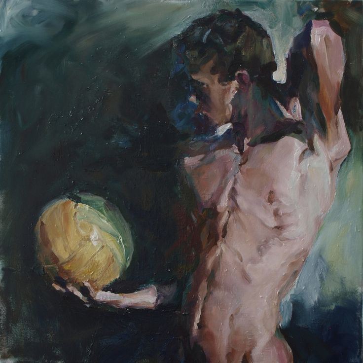 Martin-Jan van Santen (Dutch, b. 1968, Kampen, Netherlands) - Magic Ball, 2014 Paintings: Oil on Canvas