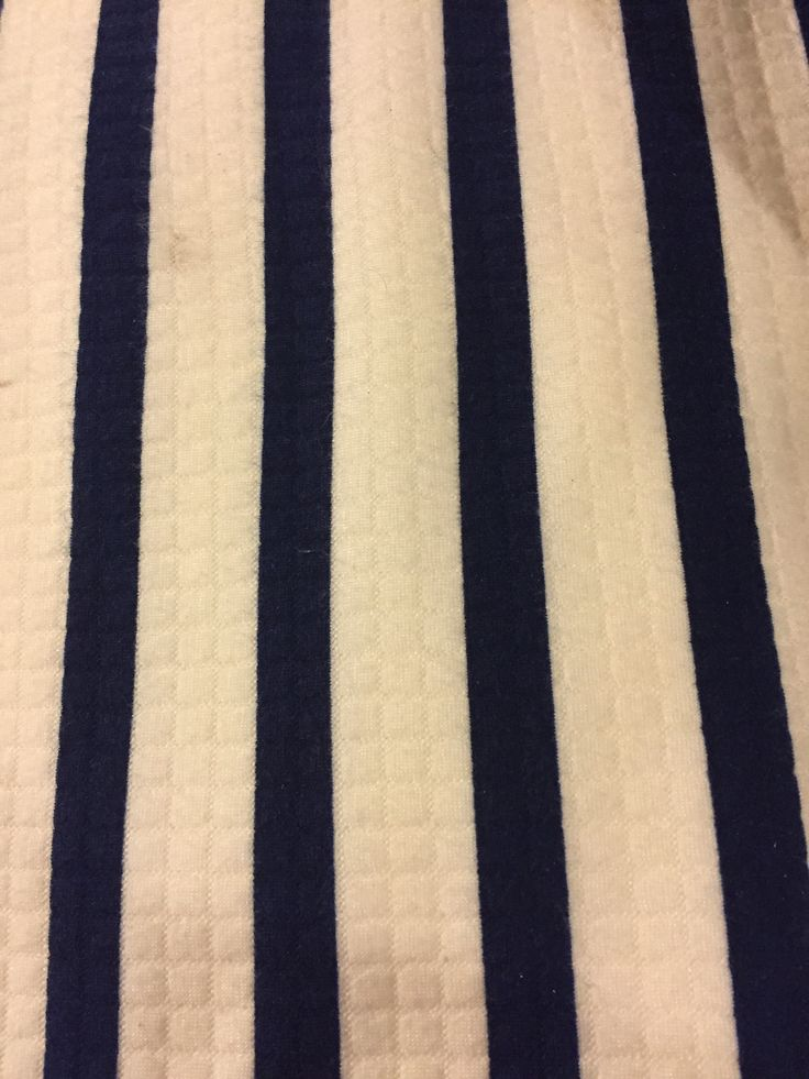 Navy and cream heavy poly knit 3 metres x 160cm