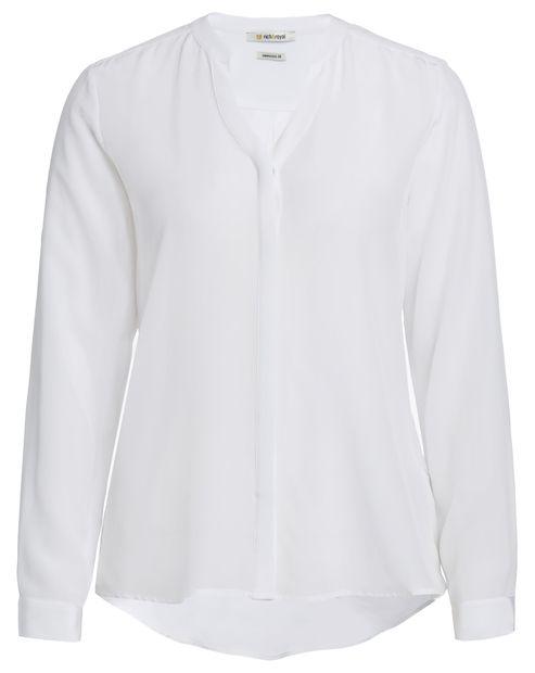 rich&royal Seiden-Bluse mit Vokuhila-Schnitt - weiß Jetzt auf kleidoo.de bestellen! #blouse #bluse #weiß #white #seide #seidenbluse #fashion #mode #style
