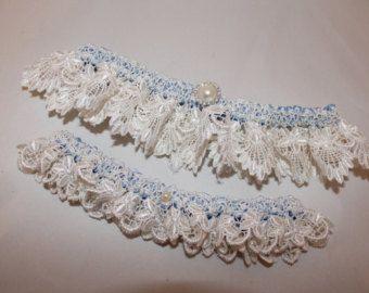 Ispirazione Vintage Bridal Garter - nuova gamma 2013 - giarrettiera Set - qualcosa insieme giarrettiera blu