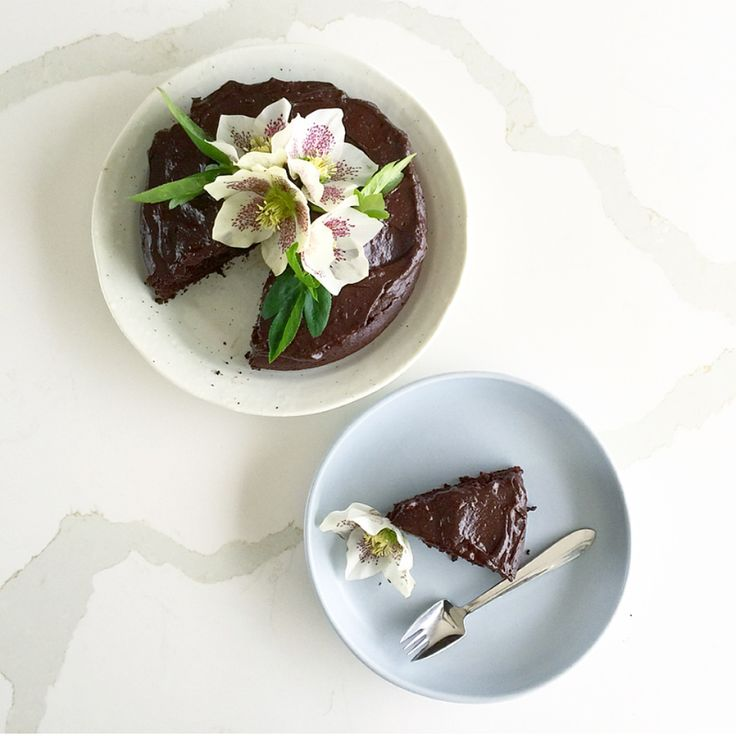 Vegan Chocolate Cake - Decadent, naughty and oh so delicious... but somewhat good for you!  Recipe from ballerinabites.org , @ballerina_bites #vegan #cake #chocolatecake #veganchocolatecake #nourishing #wholefoods #plantbased #dairyfree #glutenfree #nutfree