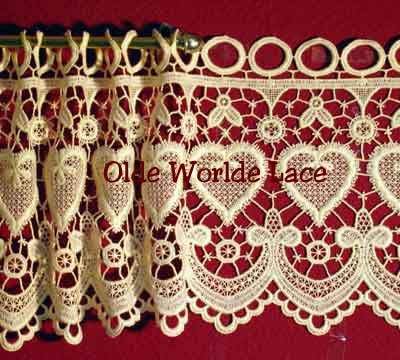 Awesome Hearts Macrame Lace Curtains From Heritage