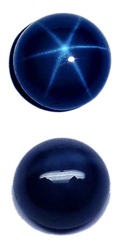 Natural Sapphires 4644: Natural Blue Star Sapphire Round Cabochon Loose Stone 6 Rays (5Mm - 12Mm) -> BUY IT NOW ONLY: $36.49 on eBay!