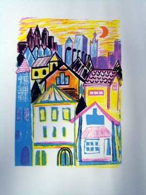 """Stad"" - Graphic print by Anna Olsson"