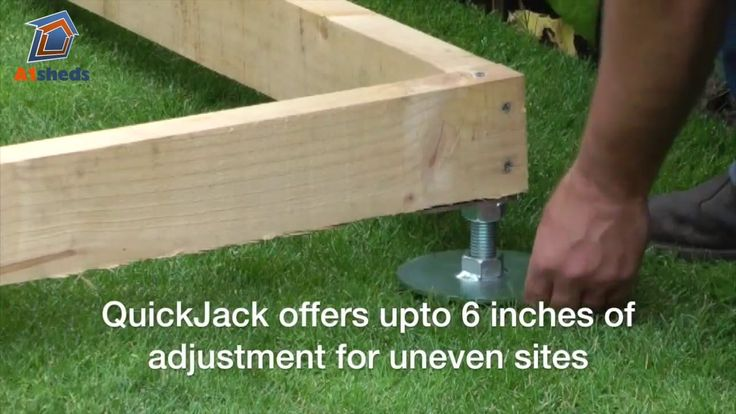 A1 SHEDS: Official supplier of the unique QuickJACK-PRO Shed Base Foundation Kit. The QuickJACK-PRO base (for soft surfaces) is an easy-to-use system which c...