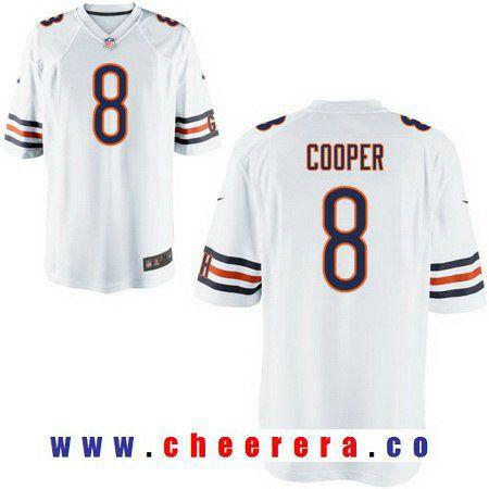39db51dda2e ... new arrivals mens chicago bears 8 mike glennon white road stitched nfl  nike elite jersey f35e8