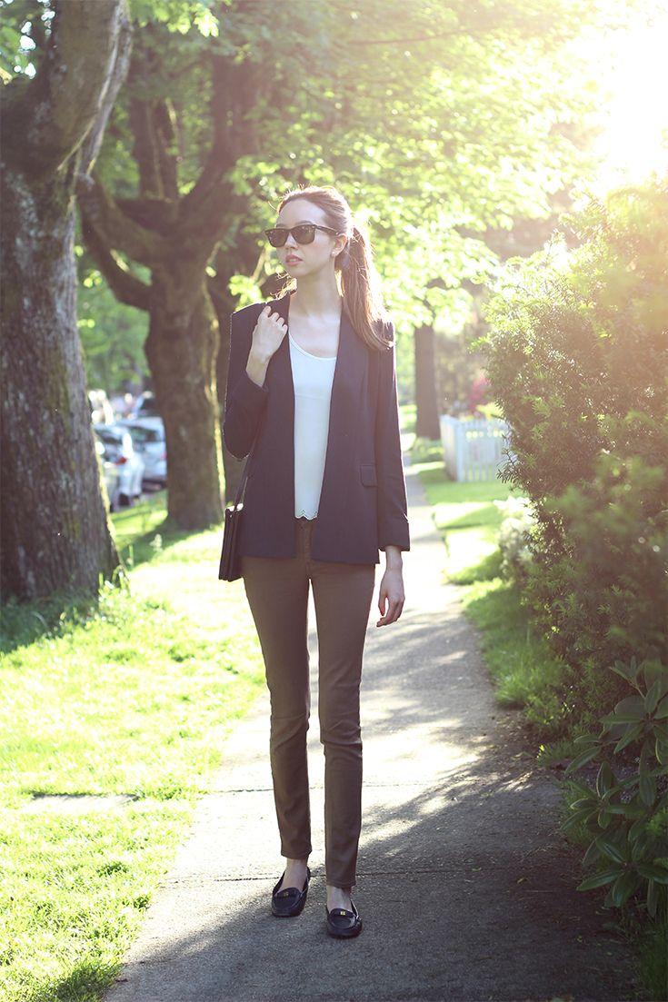 The Casual Blazer  |  emiliechevrier.com