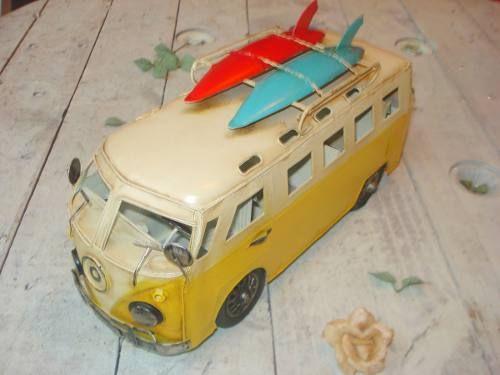 Kombi Miniatura Decorativa Presente Decoração Bagageiro - R$ 198,00 em Mercado Livre