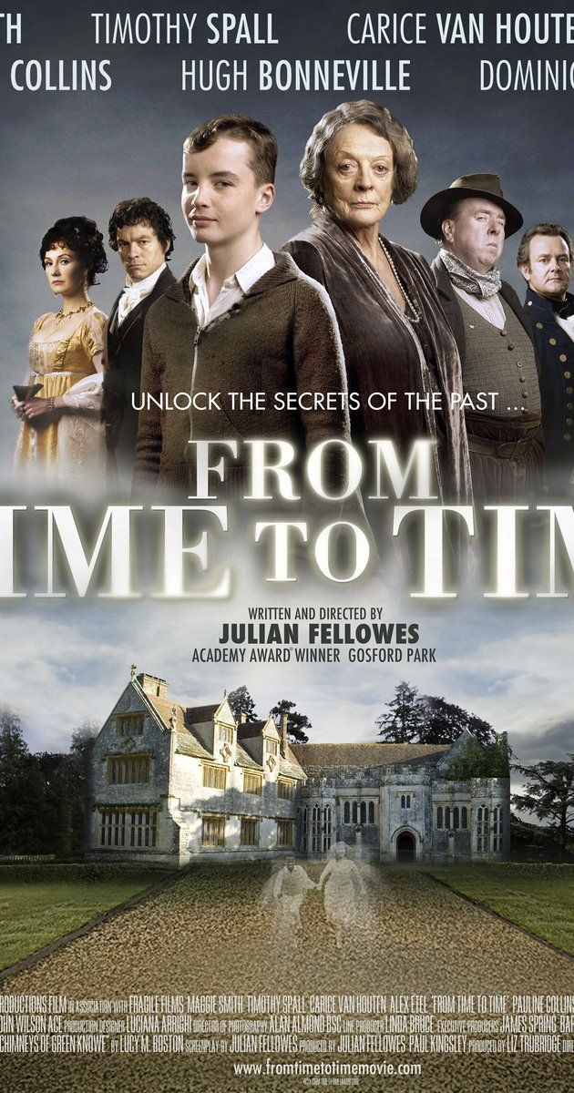 Directed by Julian Fellowes. With Alex Etel, Timothy Spall, Maggie Smith, Christopher Villiers. A haunting ghost story spanning two worlds, two centuries apart. When 13 year old Tolly finds he can mysteriously travel between the two, he begins an adventure that unlocks family secrets laid buried for generations.