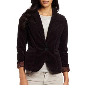 Calvin Klein Women's Black Corduroy Blazer Jacket. SHOP IT NOW