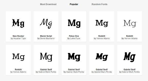 Buscador tipografias online populares para Mac