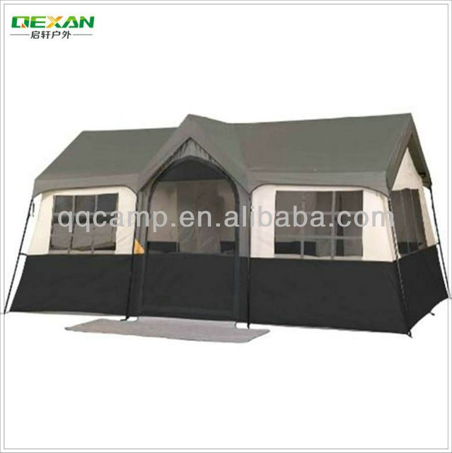 Source 2 rooms outdoor cabana house tent for 12 persons/house shaped tents on m.alibaba.com