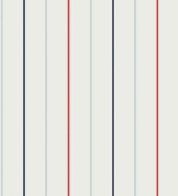 Papel pintado rayas finas juveniles azules y rojas - 2008840
