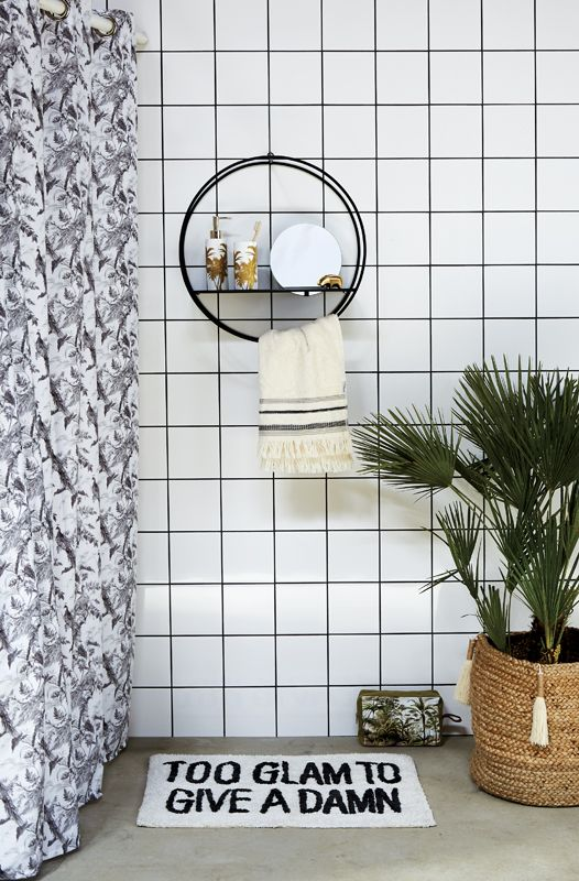 A.U Maison AW17. #aumaison #interior #homedecor #styling #danishdesign #bathroom #mirror #bathmat #showercurtain #toothbrushtumbler #dispenser
