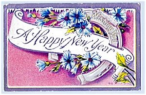 Horseshoe, Flowers Wish Happy New Year. Click on the image for more information.